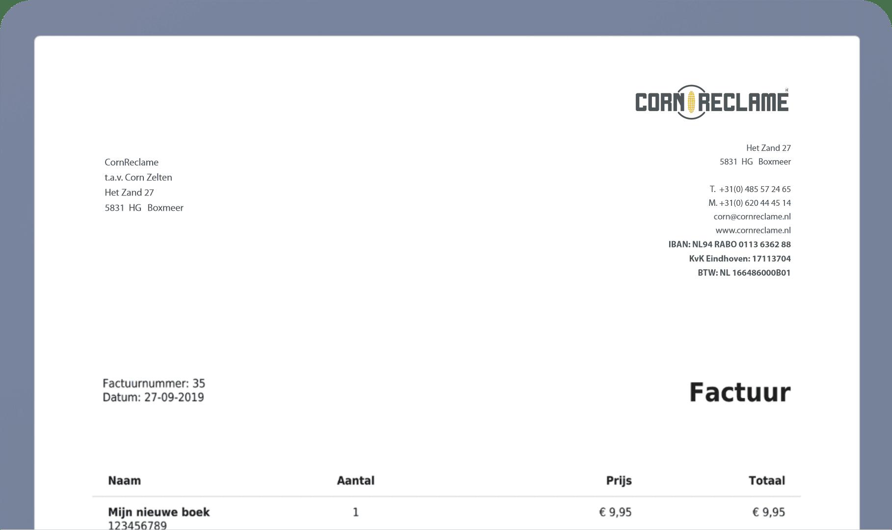 cornshop factuur 1